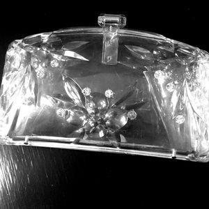 Vintage lucite clutch